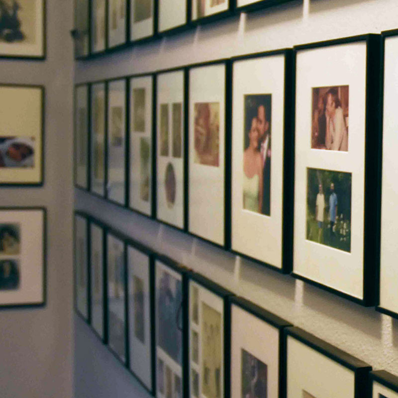 Uniform Custom Frames for Gallery Wall of Family Photos
